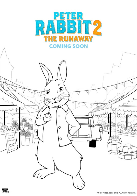 Peter Rabbit 2: The Runaway fun screen-free coloring activities to do as a family or for kids to have screen-free time while parents are doing their work. #PeterRabbit2