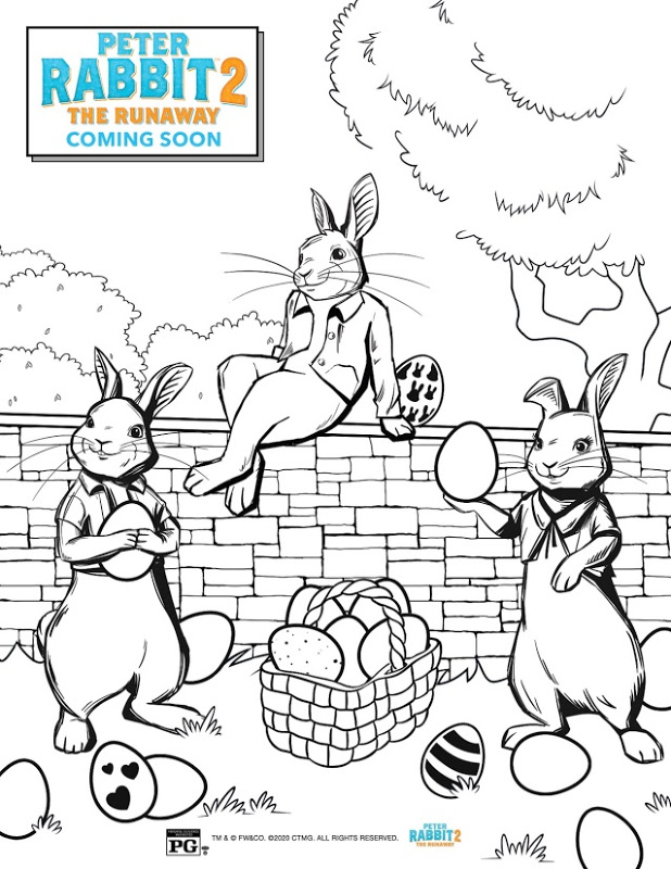 Peter Rabbit 2: The Runaway FREE Activity Coloring Sheets