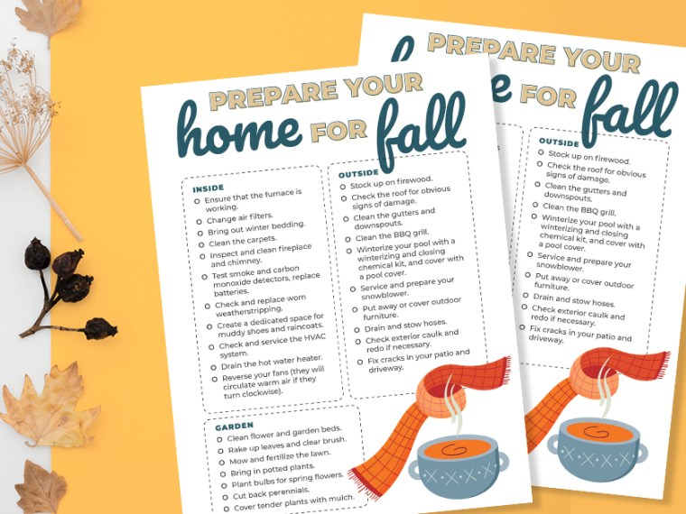 This Fall Home Maintenance Checklist features everything that homeowners should do to prepare their home for the fall.
