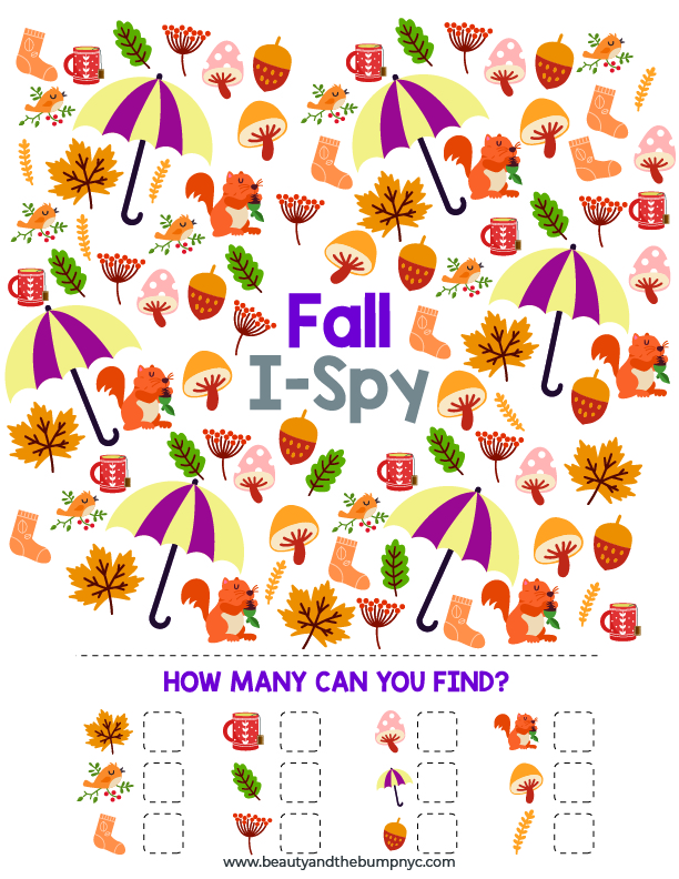 Fall Activities for Kids I-spyToo cold or wet outside? These fall activities for kids are a great way to entertain your kids and teach them about this very unique season.