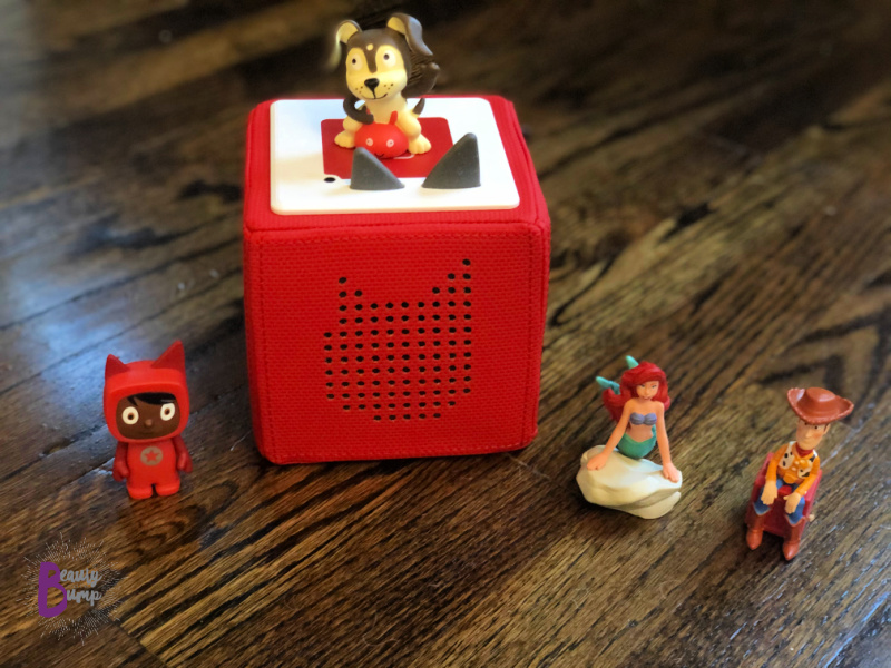 The Toniebox, a smart speaker made especially for kids. Kids are able to listen to their favorite stories, songs, and more