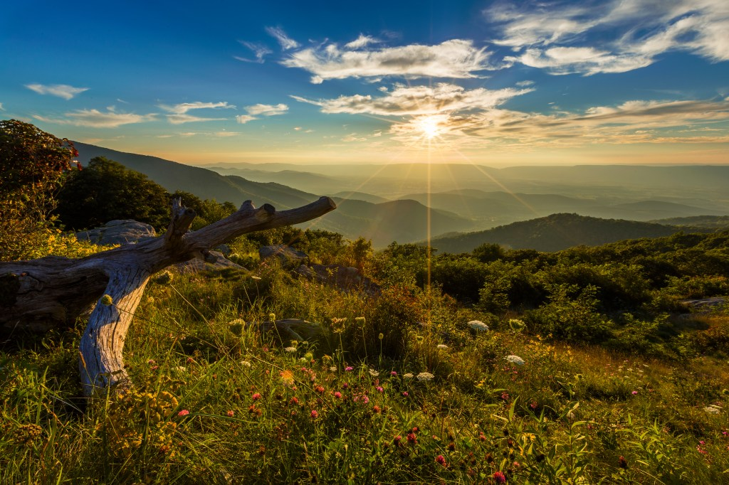 Shenandoah National Park - Sunset from Timber Hollow Overlook