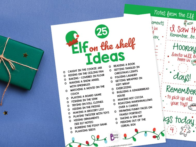 It isn't always easy to come up with your own ideas for the elf. That's where my printable Elf on the Shelf notes and ideas come in.