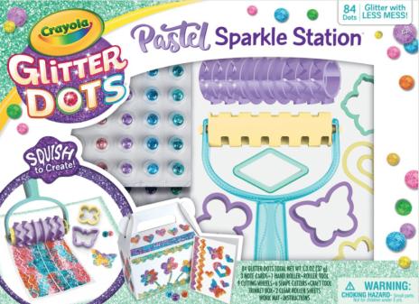 Crayola Glitter Dots Sparkle Station 100 Pieces Craft Set, Child, Ages 3+, Unisex