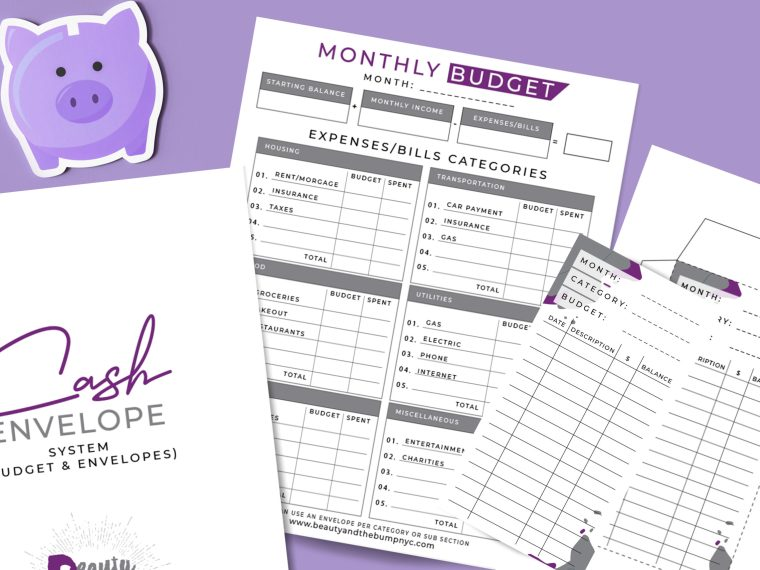 This printable budget planner with envelopes will help you reach your savings goals. It's great for those who saving isn't easy.