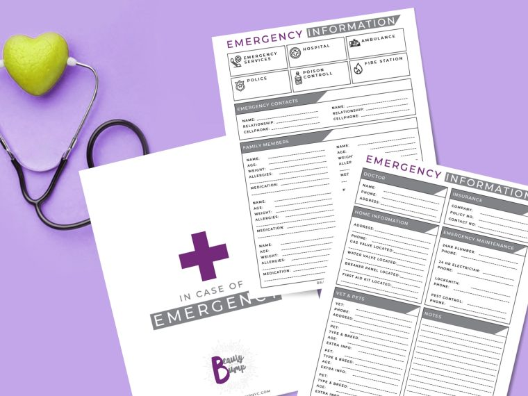 Whether you hire a sitter or just want to be prepared for any situation, you need a sheet of emergency information handy in your home.