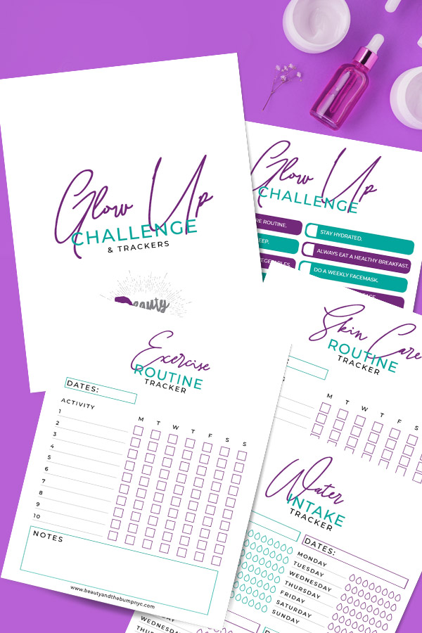 As moms it's often hard to take time for self-care. I've created this glow-up challenge tracker to make focusing on you easier. This 30-day glow up challenge list has everything you need.