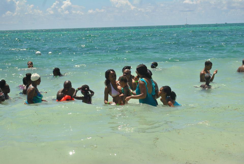 Family beach vacation in Freeport, Bahamas