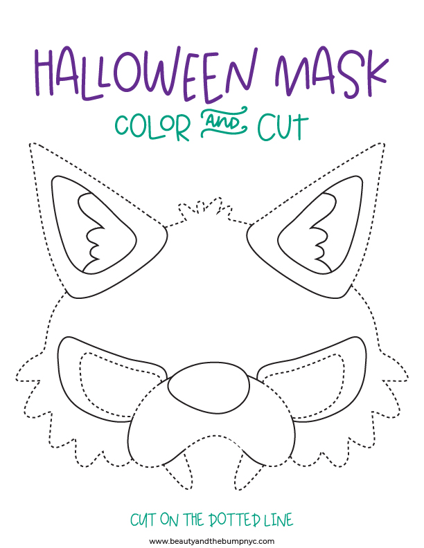 HALLOWEEN MASK COLOR AND CUT