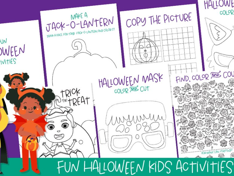 Want to get your kids ready to celebrate the Halloween season? Check out this Halloween activities printable that your kids are sure to love.
