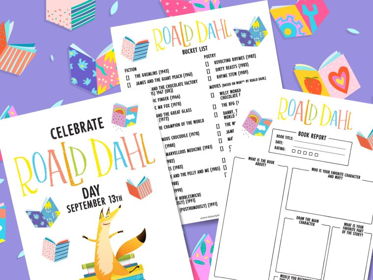 This Roald Dahl Story Day bucket list & book report is perfect for Roald Dahl fans and will help encourage reading and develop creativity.