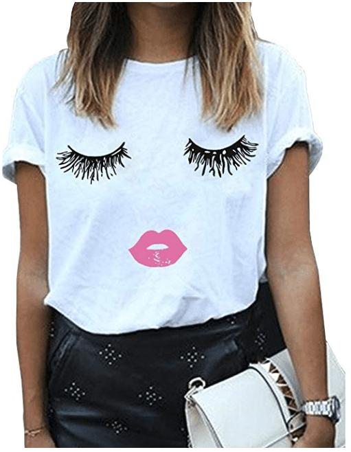 Eyelash t-shirt under $11 - Beauty and the Bustle #fashion #style