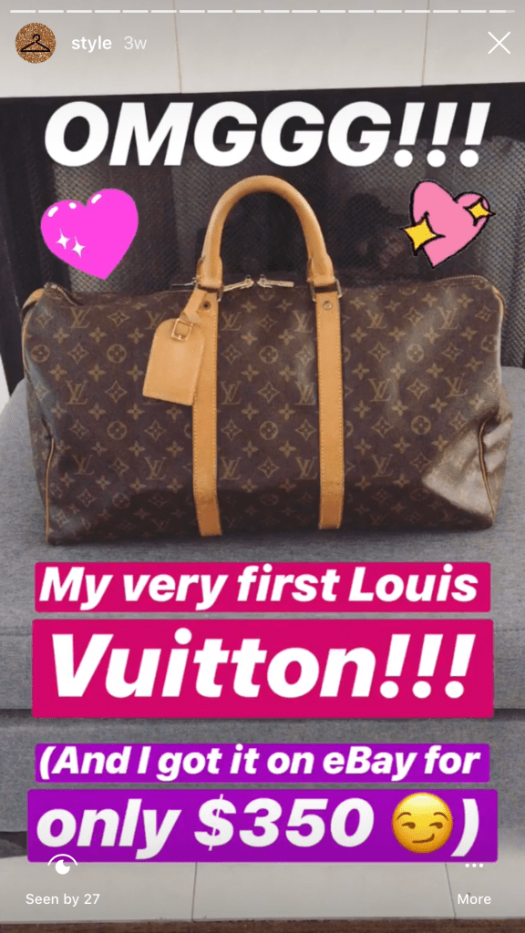 Louis Vuitton Monogram bag for only $350 on eBay! Never buy designer bags for full price again #ebay #louisvuitton #preloved #sale