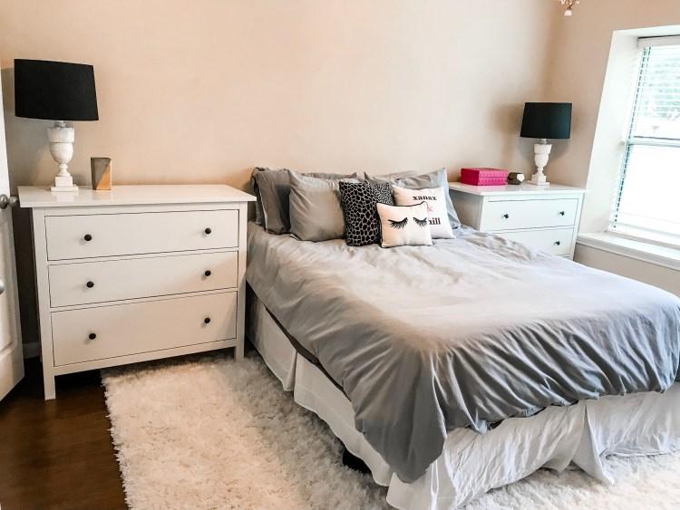 IKEA Hemnes chest as our master bedroom nightstands #furniture #decor #home #homedecor #interiordesign