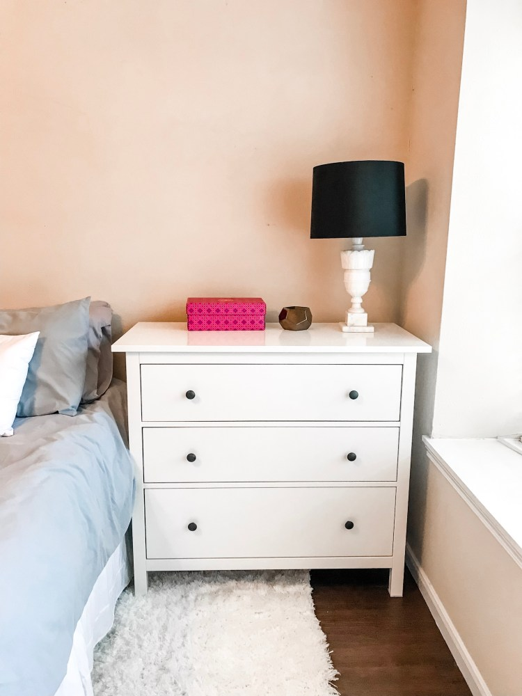 IKEA Hemnes chest as our master bedroom nightstands #furniture #decor #home #homedecor #interiordesign
