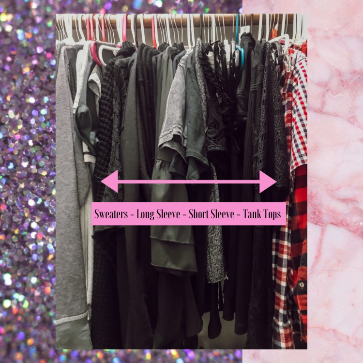 Tried and true method on how to organize your closet to optimize space, save time getting ready or packing, and help build outfits you forgot you had! #organize #organization #closet #closetorganization #walkincloset #closetgoals #dreamcloset #clothes #storage #blog #blogpost #fashionblog #styleblog #home #lifestyle #homeorganization #homeprojects #clothesstorage #timesaver #spacesaver