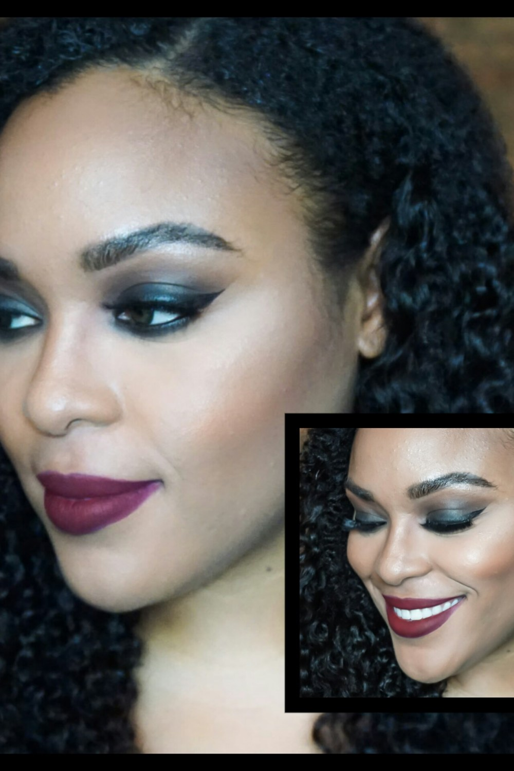 GRWM: Bold Smokey Eye with Dark Red Lips