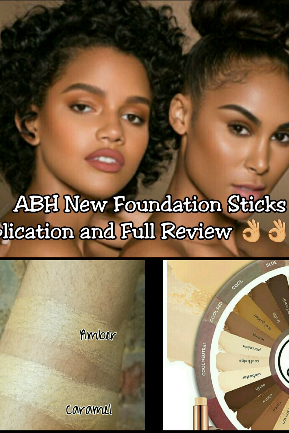 Full Review and Application of Anastasia Beverly Hills New Foundation Sticks in Amber and Caramel