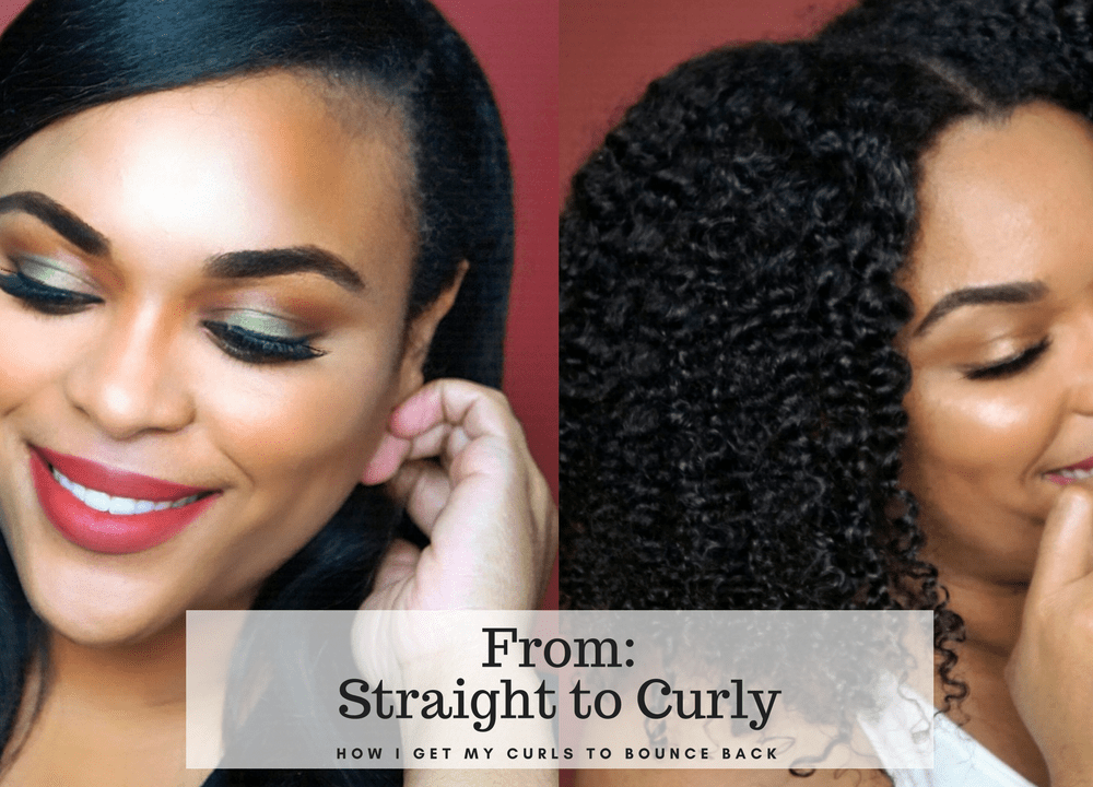 From straight to curly| Watch how Briogeo Don't Despair, Repair! helps my natural hair bounce back after 1 month of Straight Hair