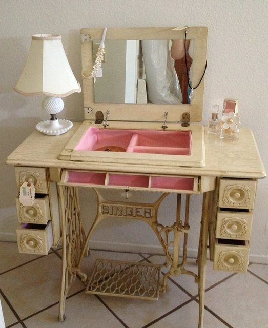 DIY Vanity Table Ideas from Pinterest