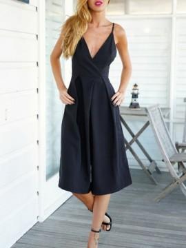 black-v-neck-open-back-cotton-wide-leg-rompers1