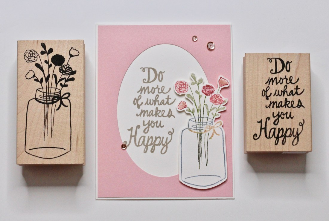 Handmade card with flowers