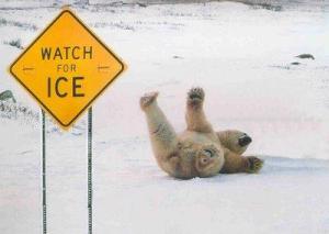 slip on ice