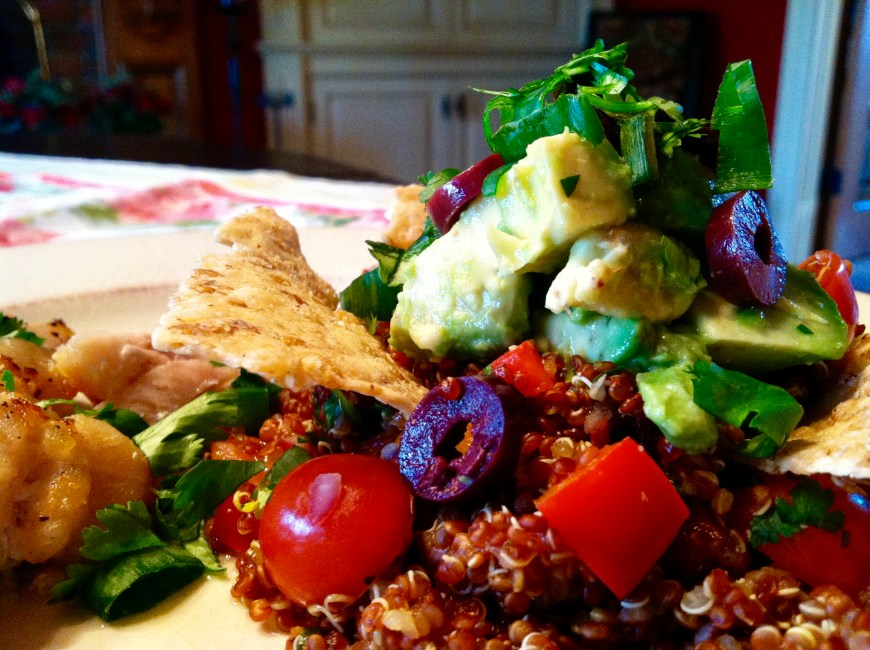 Deconstructed Guacamole Quinoa Pilaf #glutenfree #vegan #paleo #avocado #edrecovery #food #beautybeyondbones