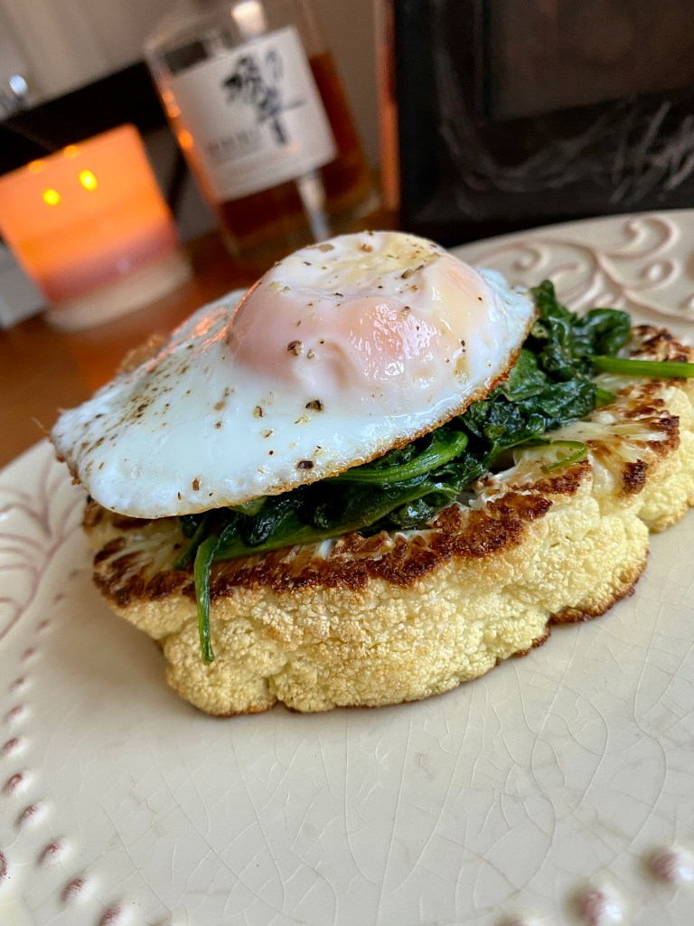 Eggs Florentine by BeautyBeyondBones #edrecovery #dinner #vegetarian #paleo #specificcarbohydratediet #grainfree #glutenfree #food #yum #Quarantine