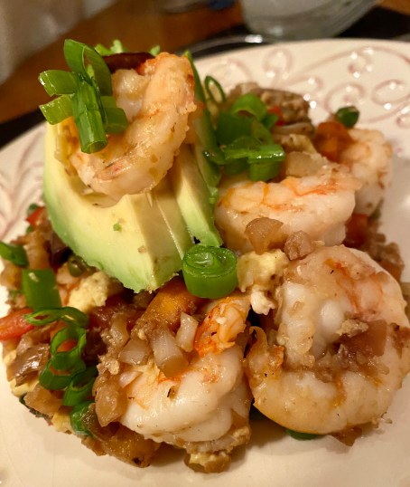 Pineapple Shrimp Fried Rice by BeautyBeyondBones #glutenfree #paleo #cooking #food #grainfree #healthyfood #edrecovery #specificcarbohydratediet #pescatarian