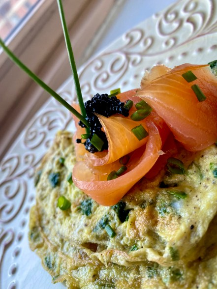 Smoked Salmon Herb Omelette with Caviar by BeautyBeyondBones #brunch #breakfast #food #glutenfree #paleo #keto #edrecovery #yum #thanksgiving
