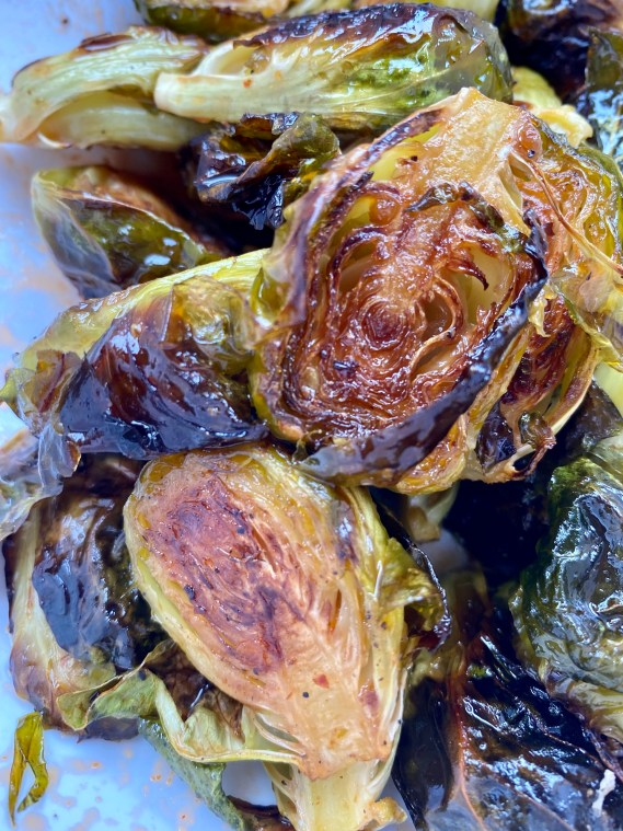 Sriracha Honey Brussels Sprouts by BeautyBeyondBones! #glutenfree #vegetarian #vegan #paleo #keto #healthy #food #edrecovery #dinner