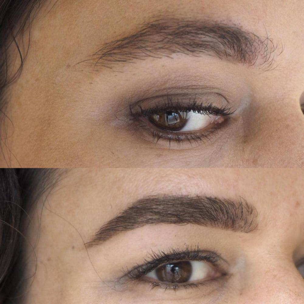 Madame Wax Brow Treatment- Before and After