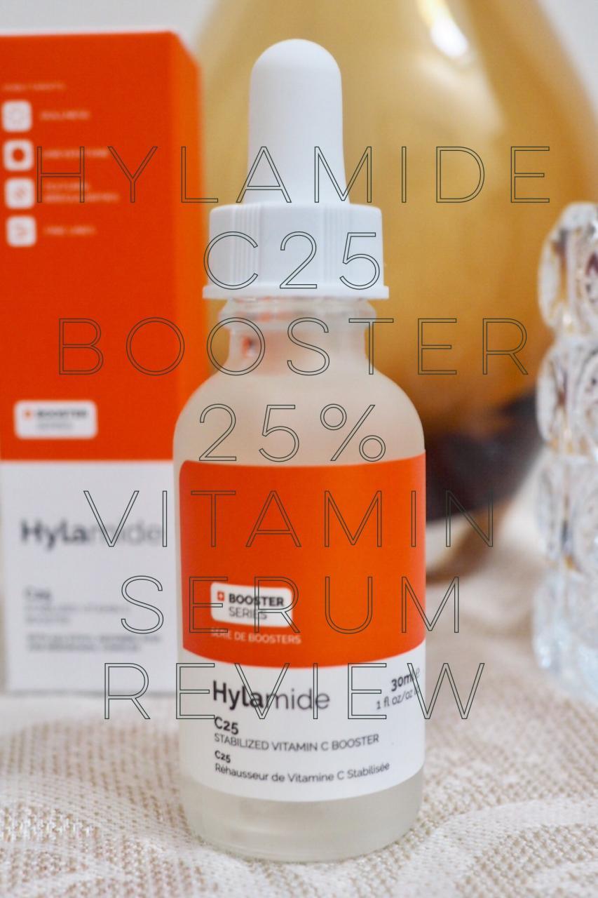 Hylamide 25% Vitamin C C25 Booster pinnable image of packaging