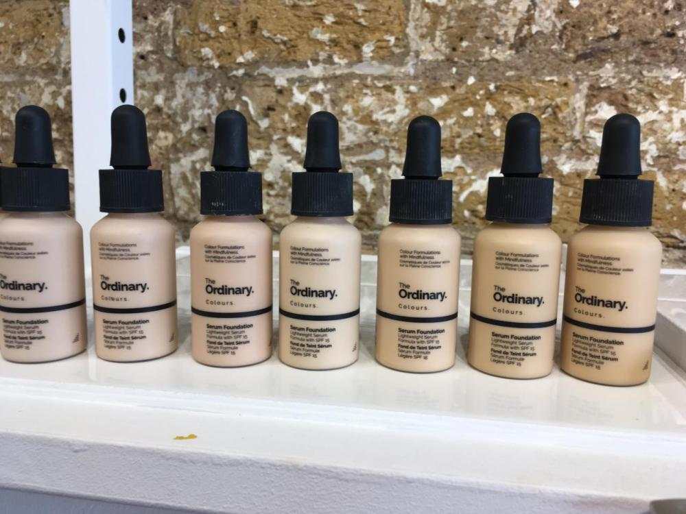 The Ordinary Colours Foundation Coverage and Serum Colour Chart