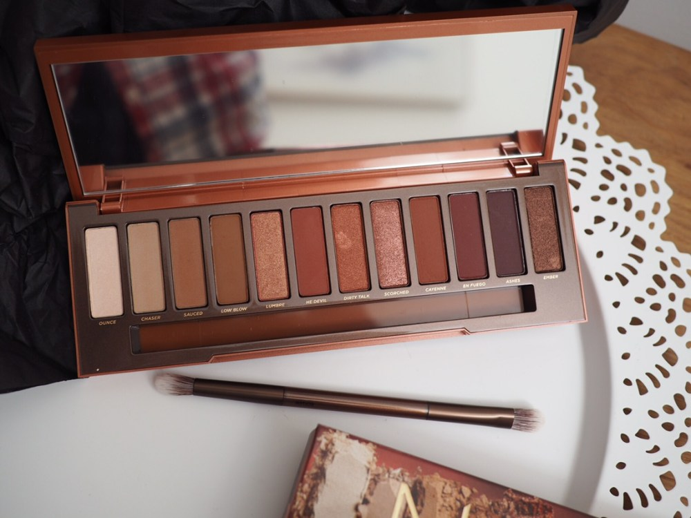 Urban Decay Naked Heat Palette- Open palette