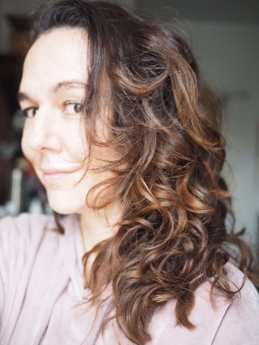 Before John Frieda Frizz Ease Shampoo and Conditioner and Serum- pic of wavy brown hair