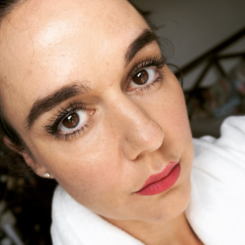 fa9f38029d3 full face pic wearing maxi mod by kiko- kiko mascara review