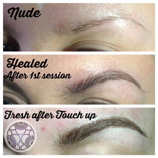 how to grow back sparse overplucked brows ishi brow art microblading before and after