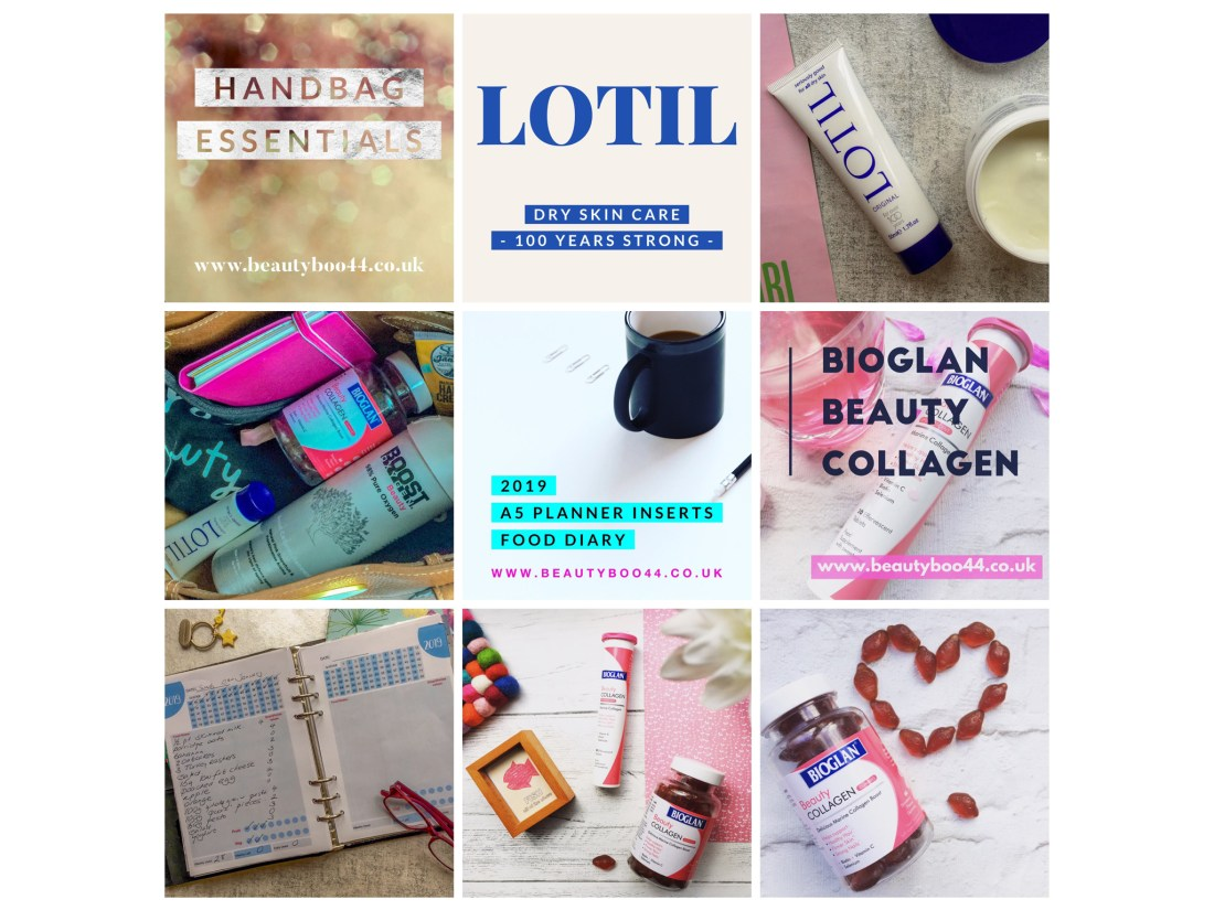 January 2019, Lotil, Bioglan Beauty Collagen, Boost Beauty Oxygen, Weight Watchers food tracker