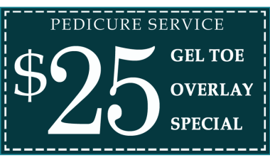 Beauty Boutique Pedicure Coupon Gel Toe Overlay ONLY $25