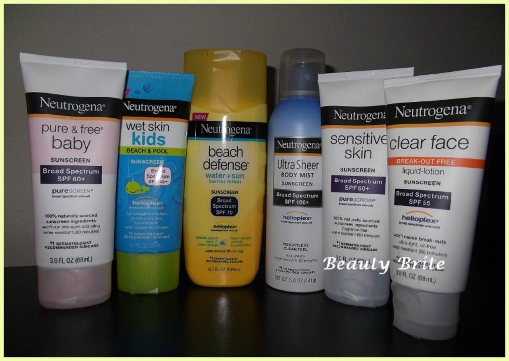 Neutrogena Sunscreens