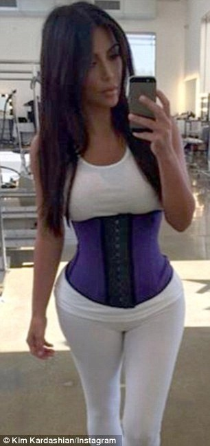 Kim Kardashian Purple Workout Band