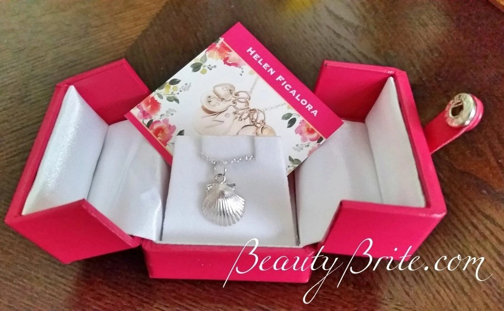Sterling Silver Scallop Seashell Charm on a Sterling Silver Chain beautybrite
