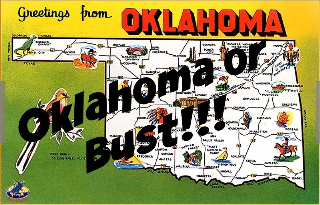 Road Trippin' Through The South - PART THREE -- Greetings from Oklahoma