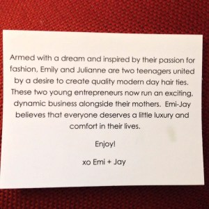 Emy and Jay card