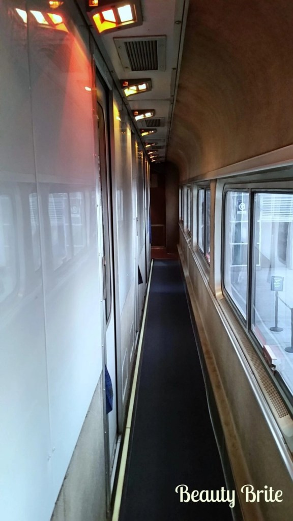 Amtrak View Down the Hallway