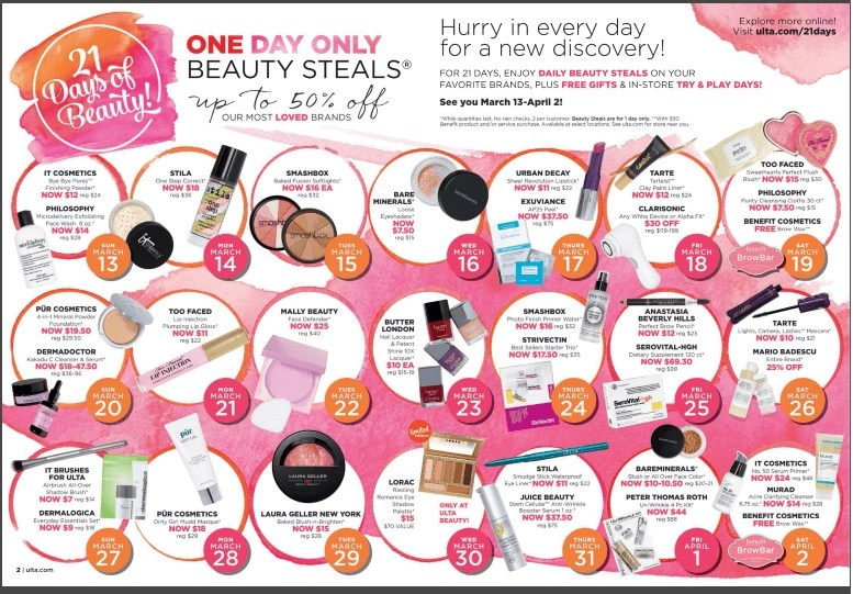21 Days of Beauty at ULTA Beauty 2016