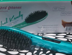 Straightening hair brush