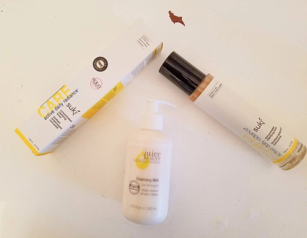 Suki Toner and Juice Beauty Cleansing Milk